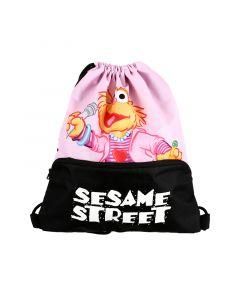Sesame Drawstring Bag Pink