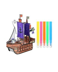 Pirate Ship Colouring 3D Puzzle