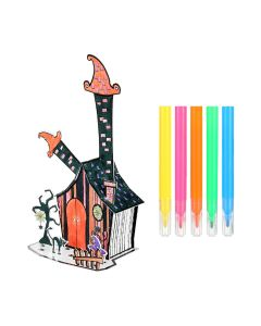 Wizard House Colouring 3D Puzzle