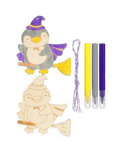 Wooden Colouring Kit - Penguin