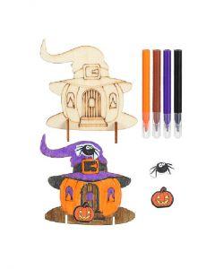 Pumpkin House Wooden Colouring Set