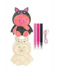 Wooden Colouring Kit - Piggy