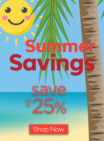 Summer Savings - save up to 25%