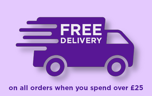 free delivery on all orders over £25